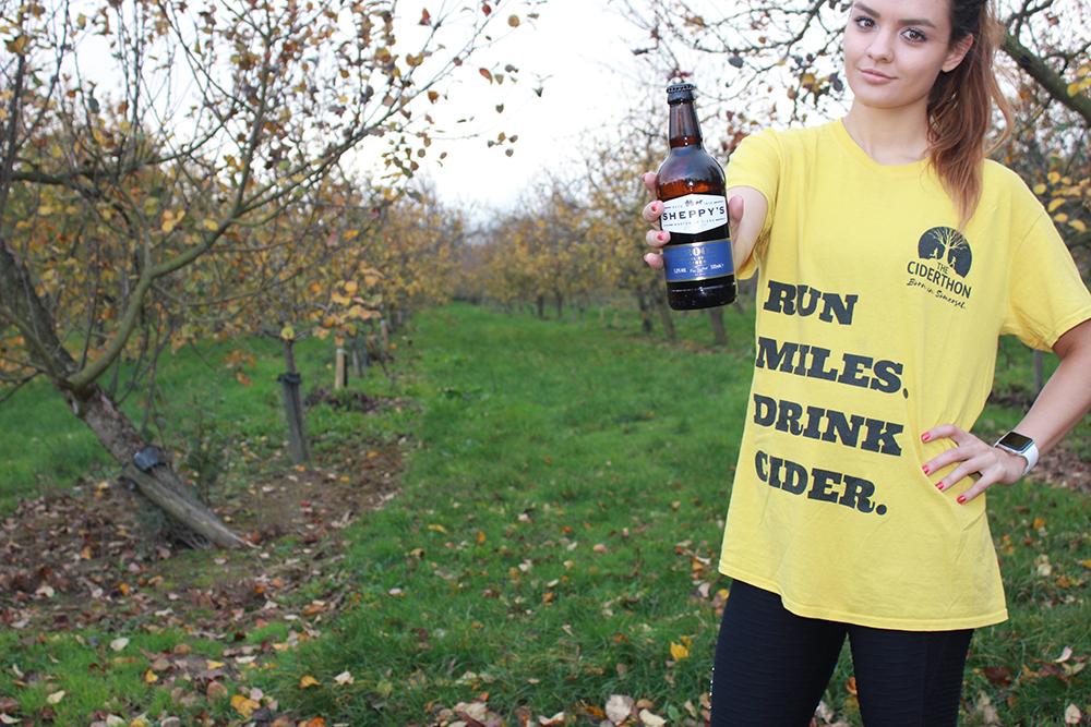 Nikki Hawkes holding Sheppy's Cider