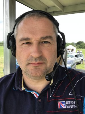 Rob in XC Control for British Eventing