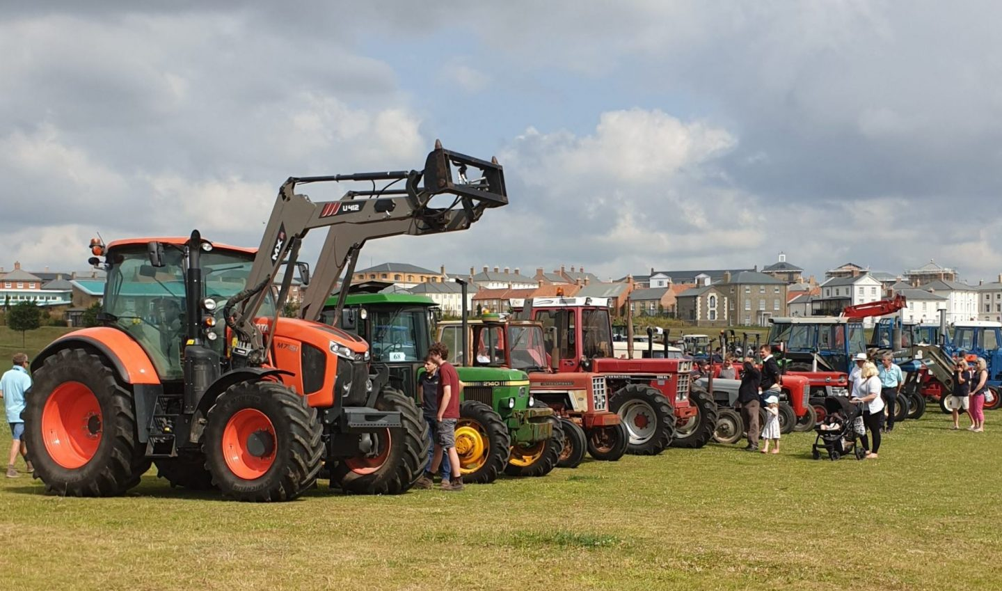 Tractor Line Up, The Great Field, Poundbury