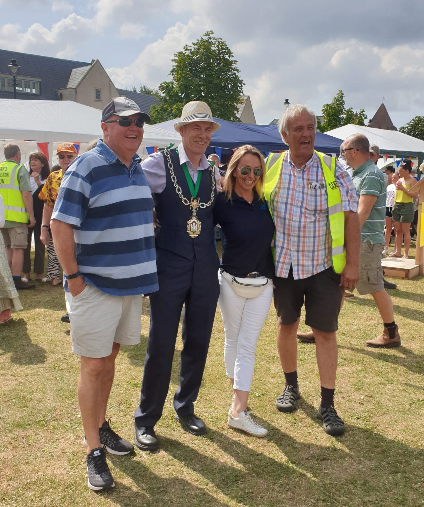 The Mayor of Dorchester gave a helping hand to kick start the Tractor Run