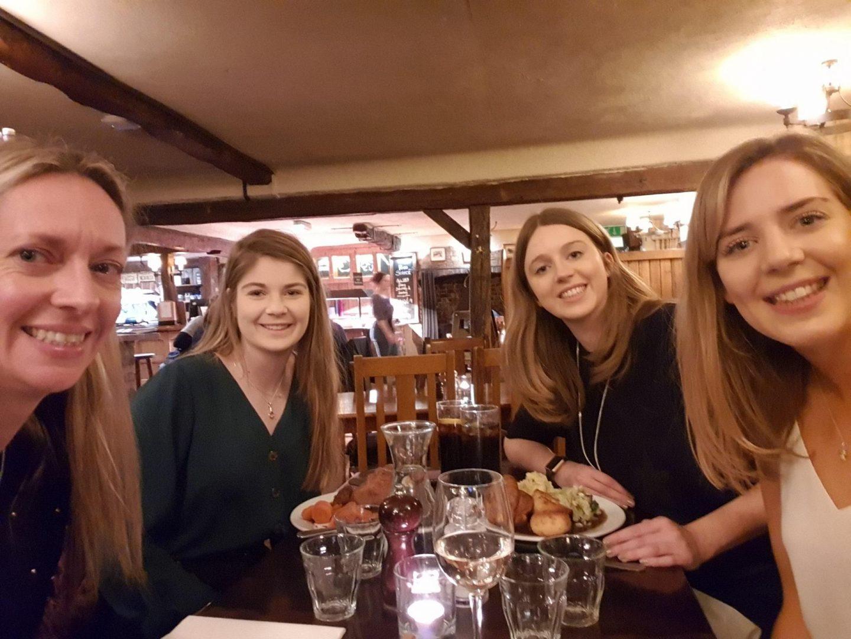 Pre Instagram meet up. Left to right. Becky, Gem, Liz & Charlotte