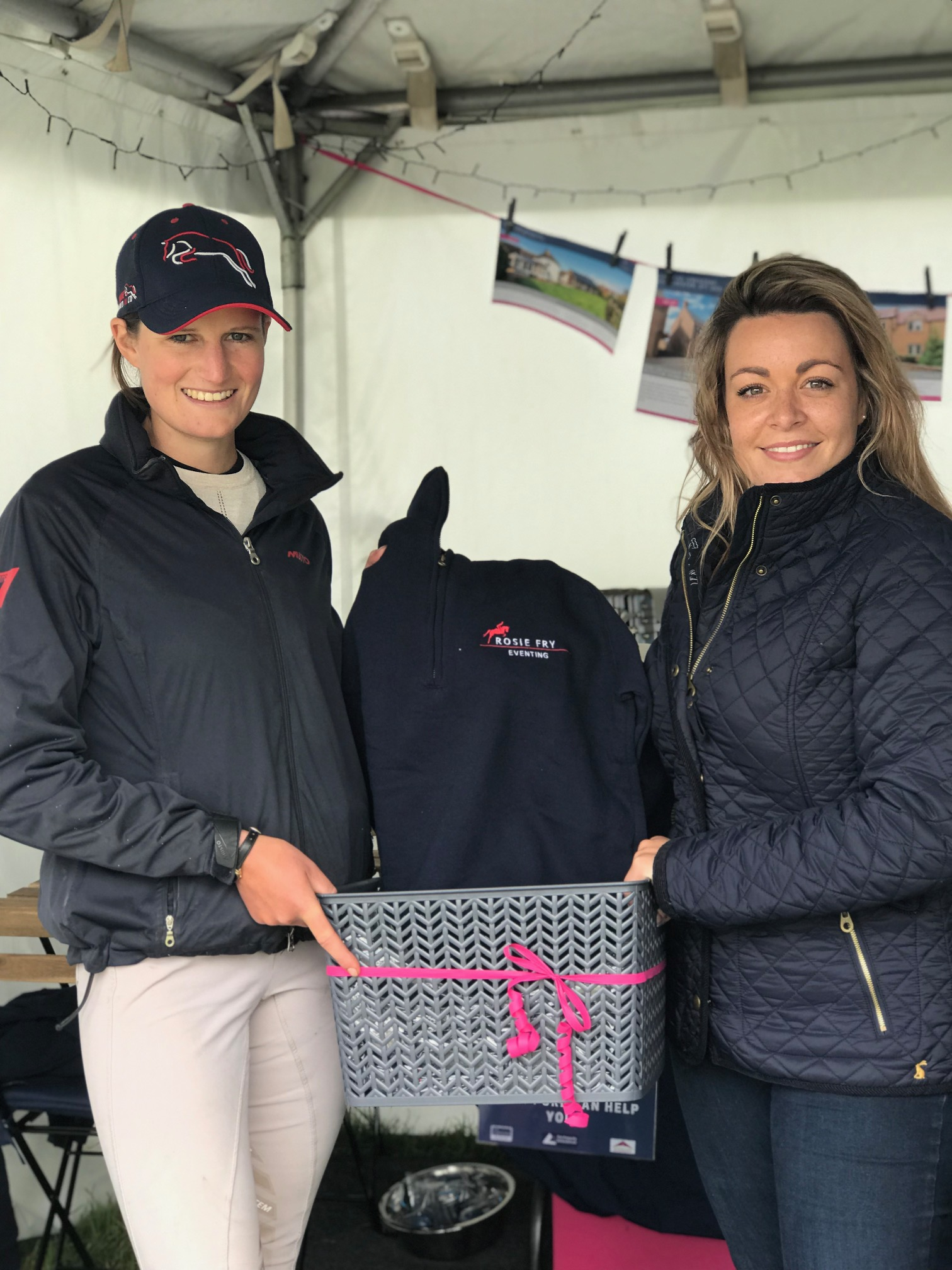 Sponsored Rider Rosie Fry with PURE's Meg Cleal