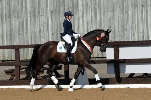 Zoe and Trevor in action at British Dressage