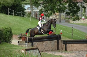 Louise competing Baz at Stockland Lovell BE Novice.