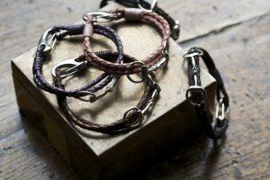 Equestrian Sterling Silver Snaffle Leather Bracelet - £45