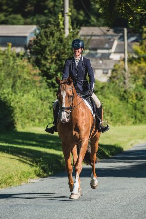 We mixed up the equestrian shoot with shots at the stables and outside the house on the road and grass verge.